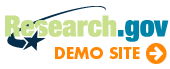 Learn More About the Research.gov Demo Site