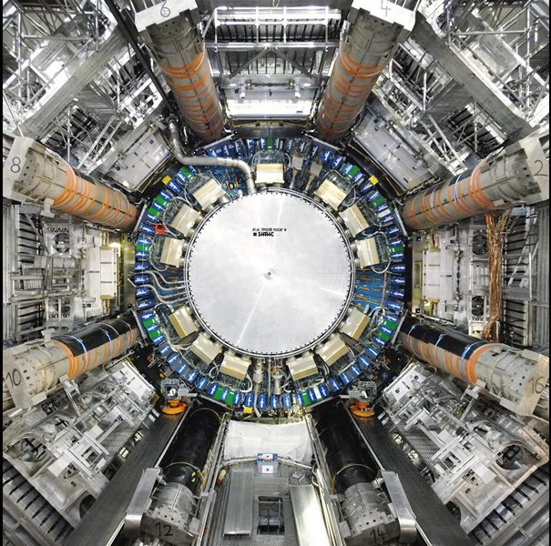 Image of the ATLAS detector at the Large Hadron Collider.