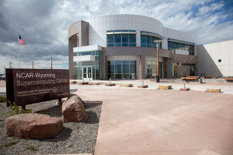 The building housing the NCAR-Wyoming Supercomputing Center