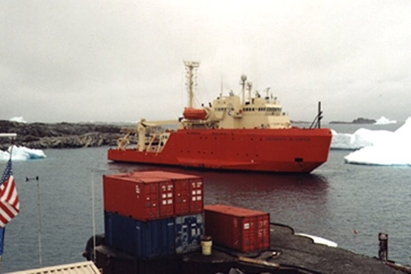 Research vessel Laurence Gould in Antarctica