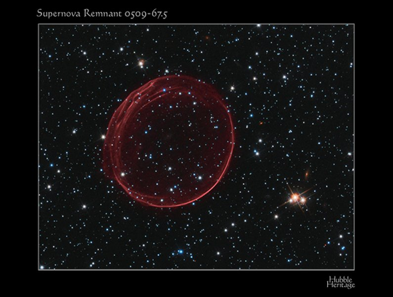 the central region of this supernova remnant is star-free