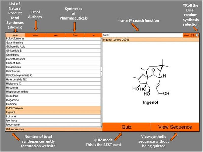 screenshot for organic chemistry app