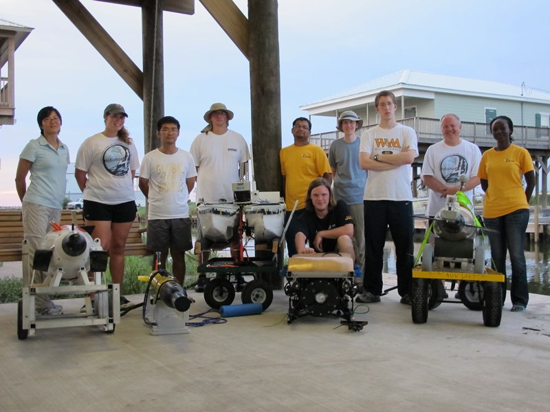 team that developed and tested marine robots