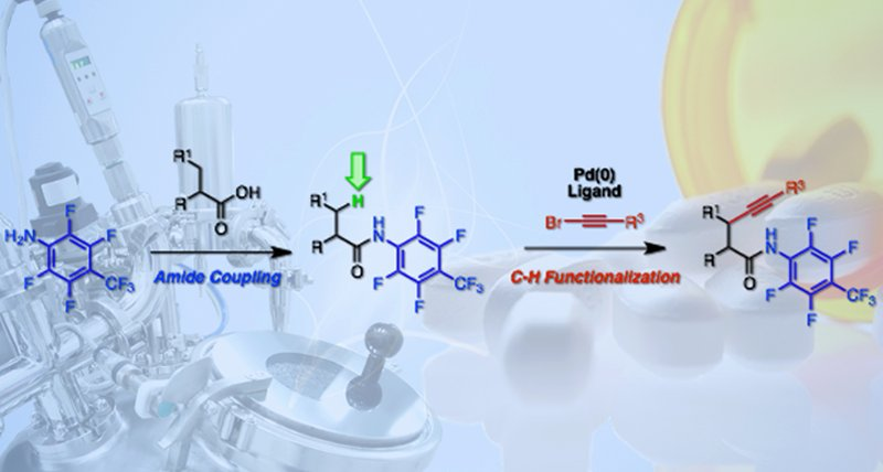 a novel approach to synthesizing alkynes eases production of compounds from drugs to polymers