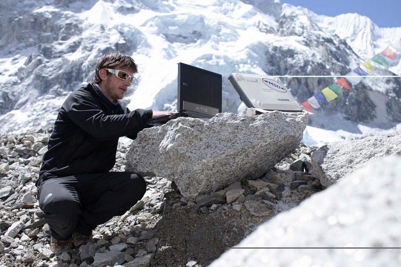 researcher on mount everest communicates with montana classrooms via satellite