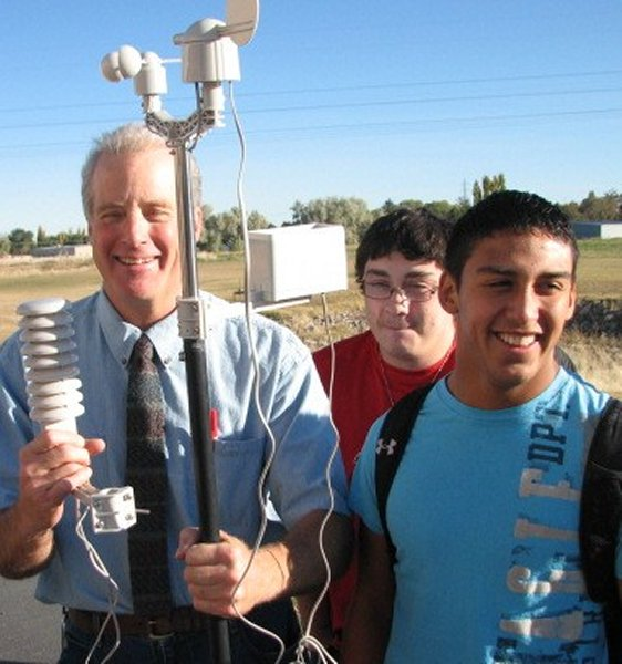 a high-school teacher and his students ready a weather station in idaho