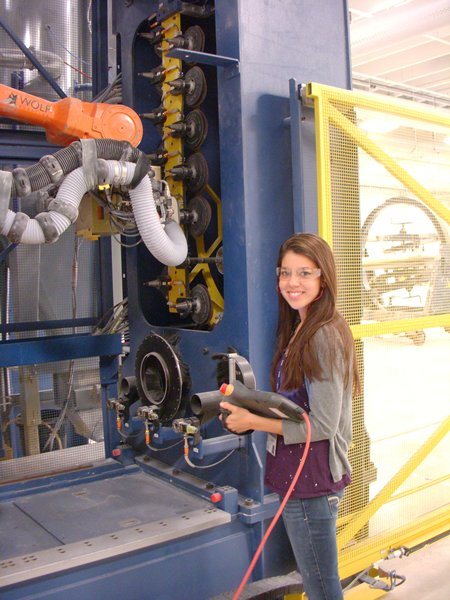 a student intern at lm wind power blades
