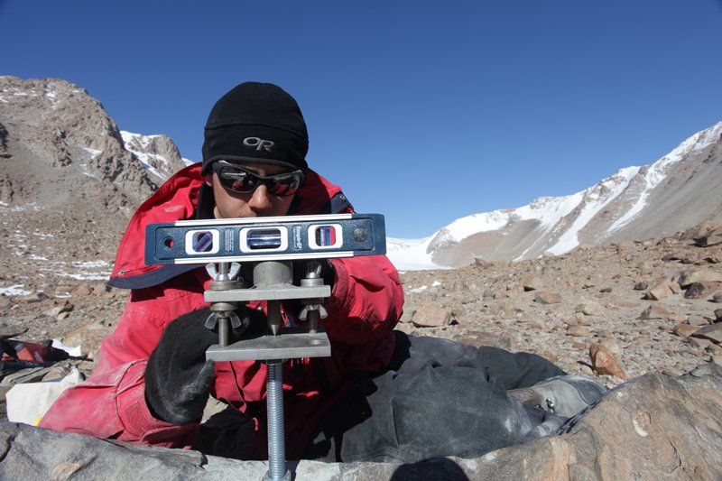 researchers use gps to measure the movement of boulders over time