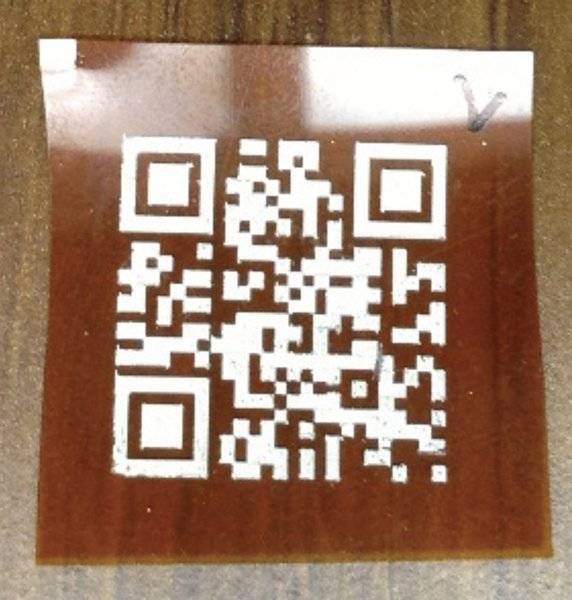 a qr code antenna printed on a thin, flexible substrate