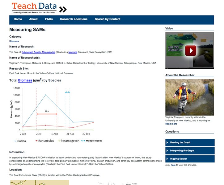 a screenshot from the teachdata website