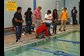students race their submarines during a 'gear up' summer camp
