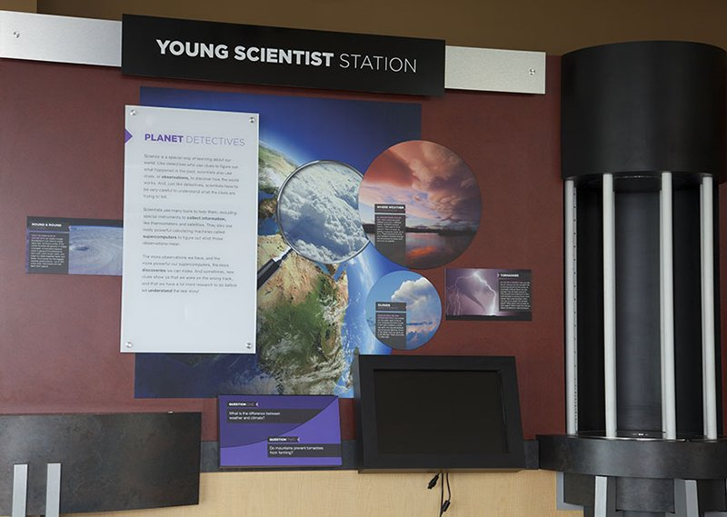 exhibit at NWSC visitor center